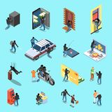 Voleur Isometric Icons illustration libre de droits