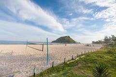 Voley boll på den Pontal stranden arkivbild