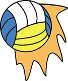 Voleyball ball with dynamic illustration Stock Images