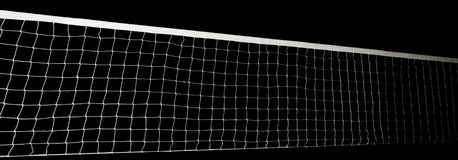 Voleyball net isolated. On black royalty free stock photo