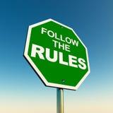 Volg de regels Stock Fotografie