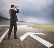 Volg de weg naar het succes stock afbeeldingen