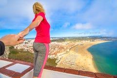 Volg me in Portugal royalty-vrije stock foto