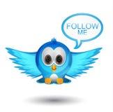 Volg me tjilpenvogel vector illustratie