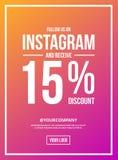 Volg ons op Instagram-Tekenaffiche vector illustratie