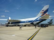 Volga Dnepr Transport Plane Royalty Free Stock Photos