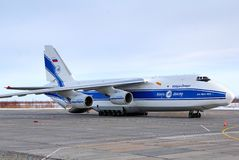 Volga-Dniepr Luchtvaartlijnen Antonov een-124 Ruslan Stock Afbeeldingen