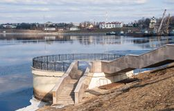 Volga Embankment Stock Image