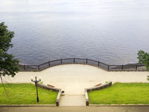 Volga embankment Royalty Free Stock Photography