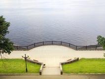 Volga embankment Royalty Free Stock Photography