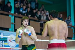 Volga Federal District Championship in mixed martial arts... Royalty Free Stock Photo