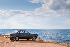 Volga GAZ-24. Used to produced in USSR 1970-1985 stock images