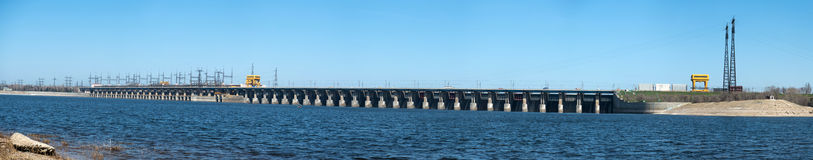 Volga Hydroelectric Station Stock Images