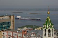 Volga and Oka rivers Royalty Free Stock Photos