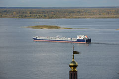Volga and Oka rivers Royalty Free Stock Photo