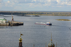 Volga and Oka rivers Stock Image