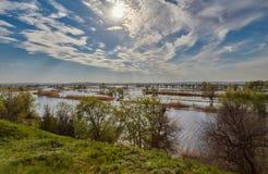 Volga, primavera y sol Fotos de archivo