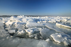 Volga River debacle Arkivfoton