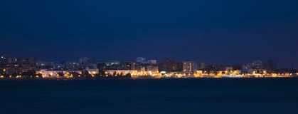 Free Volga River Embankment At Night In Samara, Russia. Panoramic View Of The City. Royalty Free Stock Photos - 120556918