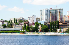 Volga river embankment in Saratov city, Russia Royalty Free Stock Photos