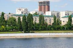 Volga river embankment in Saratov Stock Photography