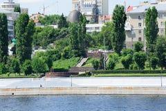 Volga river embankment in Saratov Royalty Free Stock Images