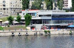 Volga river embankment in Saratov Stock Images