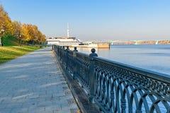 Volga river embankment in Yaroslavl royalty free stock photos