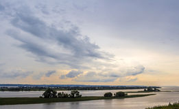 Volga river. Evening landscape with views of the Volga River royalty free stock images