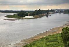 Volga river in Gorodets. Nizhny Novgorod Oblast. Russia Stock Images