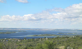 The Volga river. In the heart of Russia Royalty Free Stock Photos