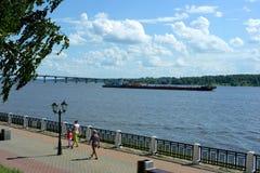 Volga River i Kostroma Royaltyfria Foton