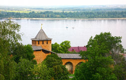 Volga river from Kremlin Nizhny Novgorod Stock Photos