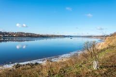 The Volga river near the town of Tutaev. Royalty Free Stock Photos