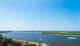 Volga river Royalty Free Stock Photos