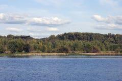 The Volga river panorama. Royalty Free Stock Images