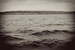 The Volga river panorama. Stock Photography