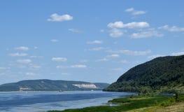 Volga river Stock Image