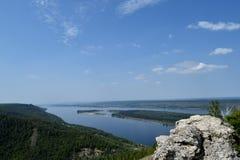 Volga river Royalty Free Stock Photos