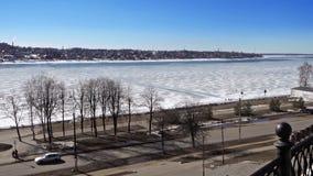 The Volga River stock video