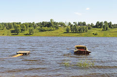 Volga river summer landscape Royalty Free Stock Photography