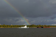 On the Volga River after a summer storm Stock Images