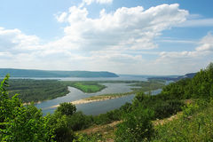 Volga river. On summer sunny day stock image