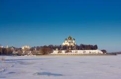 Volga River. Uspensky Cathedral. Yaroslavl. Russia. Royalty Free Stock Image