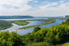 The Volga River. View from the top Stock Images