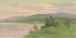 Volga rivier Royalty-vrije Stock Afbeelding