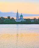 Volga rivier in Tver, Rusland royalty-vrije stock afbeelding