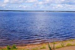 Volga rzeka Zdjęcie Stock