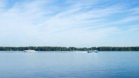 Volga rzeka Samara, Rosja Samara Rosja, Czerwiec - 2017 - Zdjęcie Stock