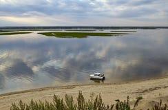 Volga sand riverside at Sviyazhsk Stock Images